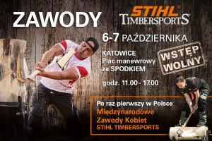 Zawody Stihl Timcersports w  MCK Katowice