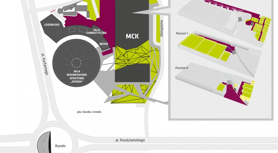 Plany poziomów MCK