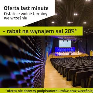 Oferta last minute wrzesień w MCK i Spodku