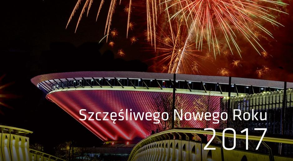 kartka noworoczna MCK i Spodek